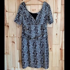 Kiyonna Dresses - SOLD Kiyonna Black Silver Design Dress 2X